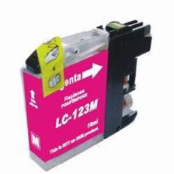 Lc-123m Cartucho Brother Compatible Magenta