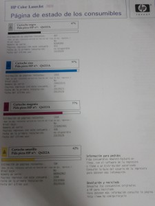 Después de calibrar color impresora HP LaserJet