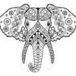 Mandala de cabeza de elefante