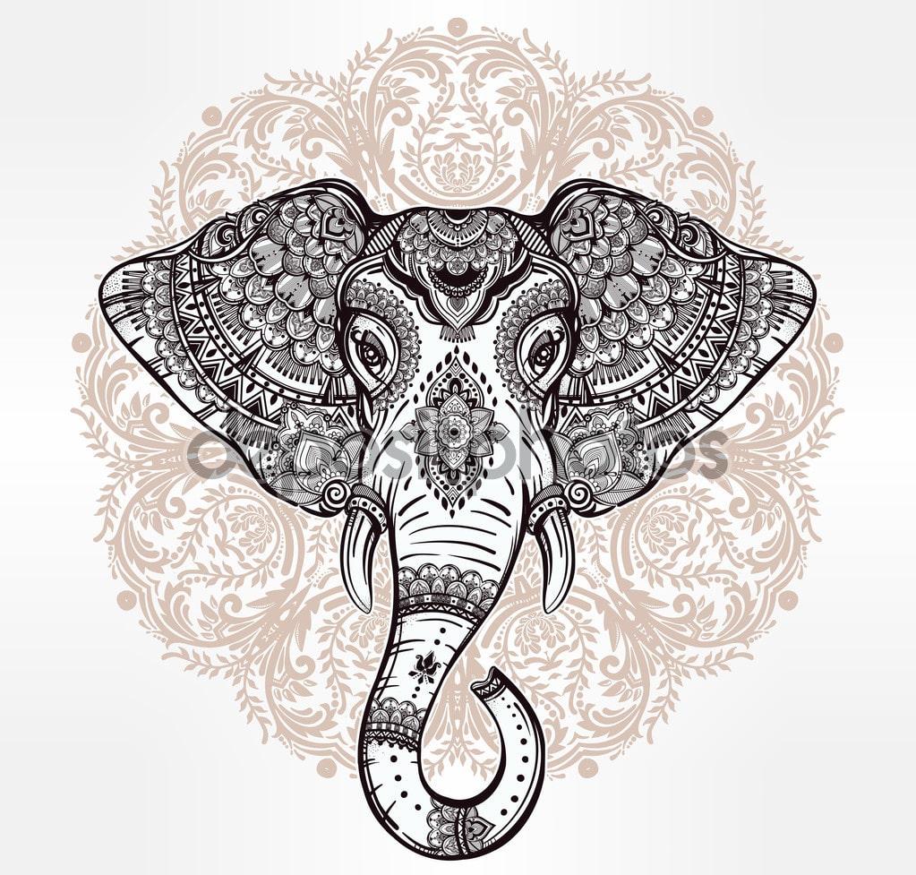 Elefante con tribal