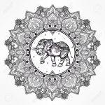 Mandala completo con elefante