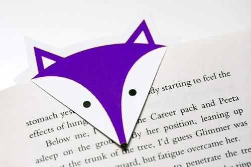 Marcapaginas para imprimir de zorro