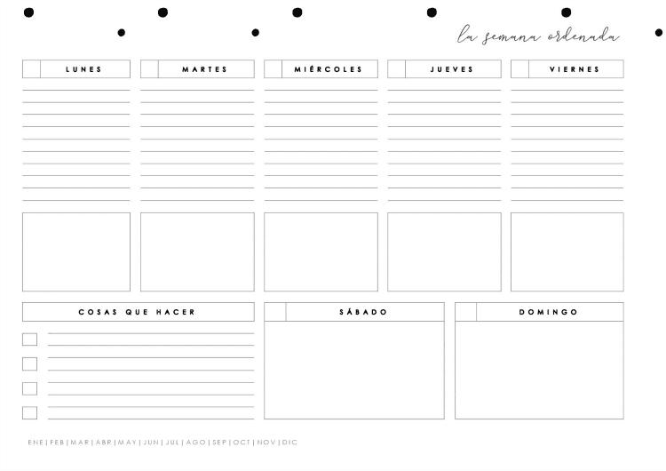 Planificador semanal para descargar